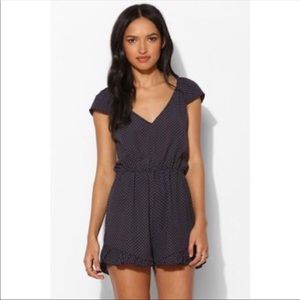 Pins & Needles Urban Outfitters Polka Dot Romper-L